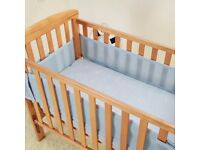 Baby cot and Bedding