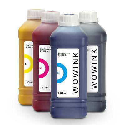 4 x 1000ml Tinten Set Eco Solvent Tinte für Epson® Mimaki® Mutoh® Roland®