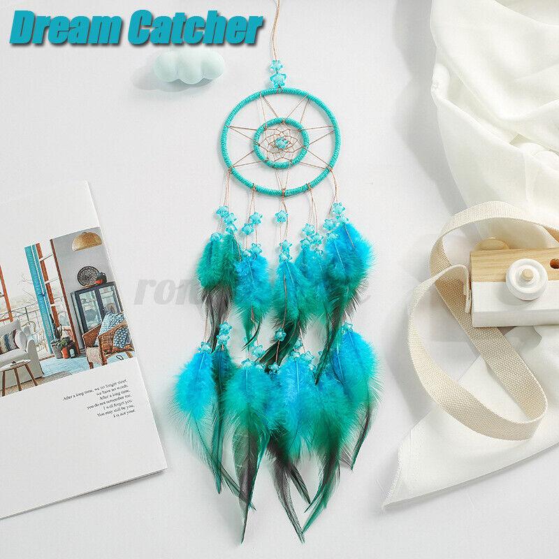 Handmade Feather Dream Catcher Knitted Indian Dreamcatcher Wall Hangin