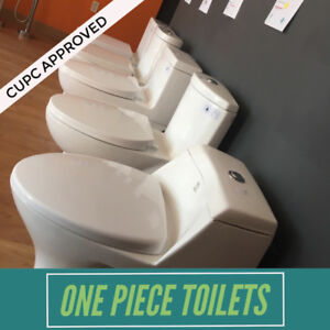 DUAL FLUSH TOILETS ONE PIECE SKIRTED WATER SAVING TOILET BIDETS