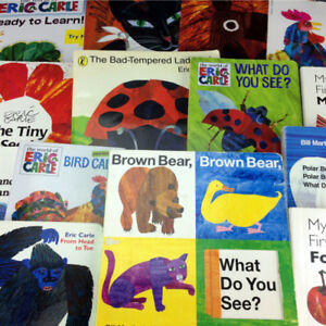 Lot 15 Eric Carle Board & Picture Story Books Children Classroom