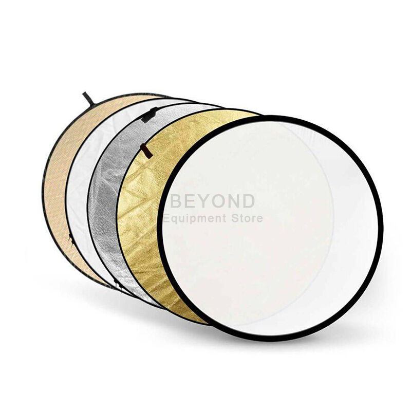 """32"""" 5 in 1 Photography Studio Multi Photo Disc Collapsible Light Reflector 80cm"""