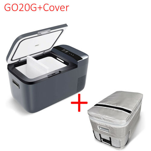 22QT Portable Dual Zone Car Fridge Freezer Mini Refrigerator Camping With Cover