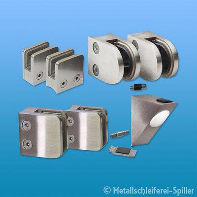 Edelstahl V2A Glashalter Klemmhalter Scheibensicherung für Glasstärke 6-12,76 mm