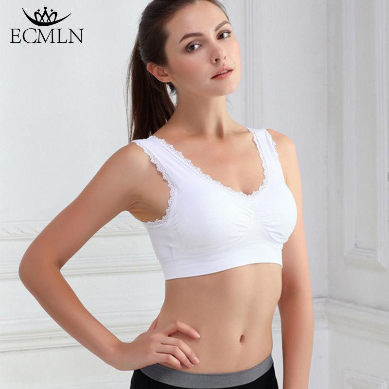 Women Thin Sports Bra Athletic Vest Stretch Push Up Fitness Yoga Crop Top