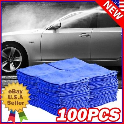 100 Pack Microfiber Cleaning Cloth No-Scratch Rag Car Polishing Detailing Towels