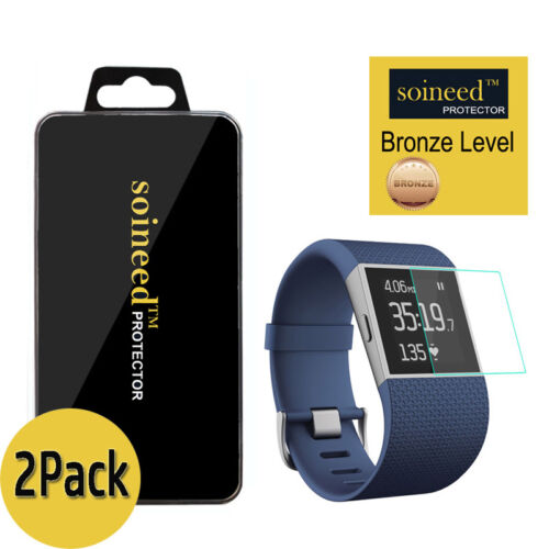[2-Pack] SOINEED Tempered Glass Screen Protector For Fitbit Surge Smart Watch