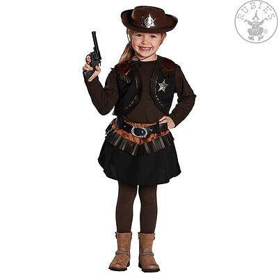 Cowgirl Kostüm Mädchen (RUB 12126 Little Cowgirl Kostüm Mädchen Kinderkostüm braun Cowboy Western )