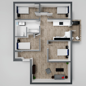 4 Bed FLAT-April 1st- Renovated, EVERYTHING INCL-Fairview/MSVU