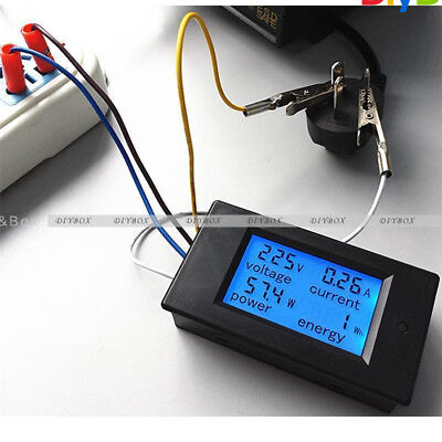 20a Ac Digital Lcd Panel Meter Monitor Power Energy Voltmeter Ammeter Voltage