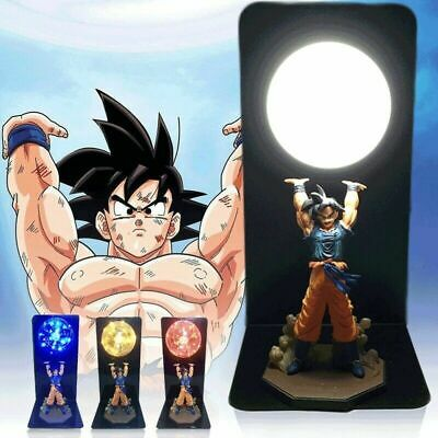 Anime Dragon Ball Z LED Light Son Goku Spirit Bomb Lamp Action Figures Gift Toy