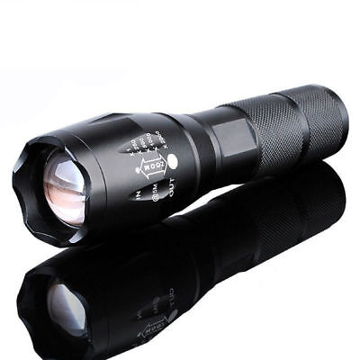 US 10000LM Zoomable XML T6 LED 18650 Flashlight Focus Torch Zoom Lamp Light