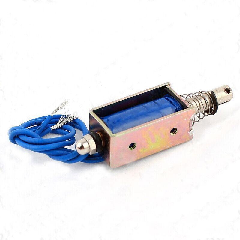 Mini valve Solenoid Actuator DC 12v Push-Pull Open Frame  Electromagnet 5N 10mm