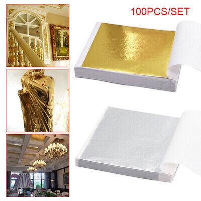 100x 24K Gold Leaf Sheets Art Craft Design Gilding Framing Scrap Premium Golden