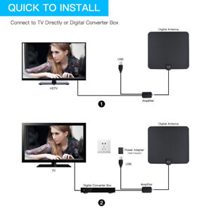 HDTV Antenna,Ecandy Amplified HDTV Indoor Antenna