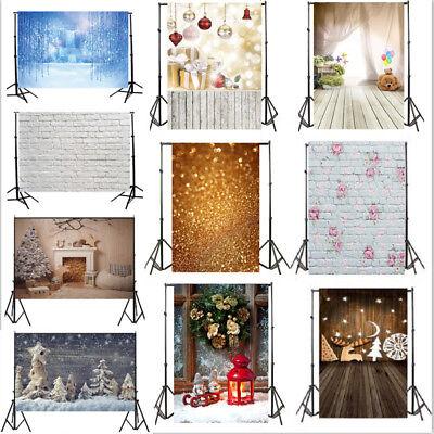 2018 Christmas Backdrops Baby Photo Birthday 5x7ft Vinyl Background Studio Props - Christmas Photo Backdrops