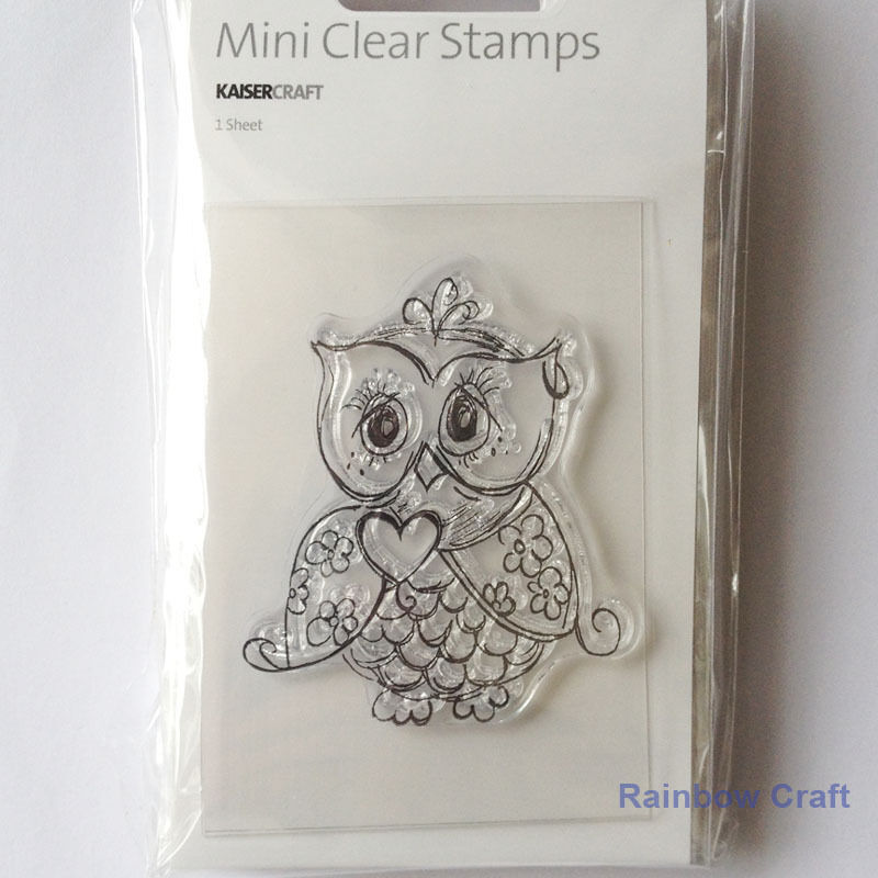 Kaisercraft mini stamps - 26 wording / patterns Scrapbooking card making - Owl
