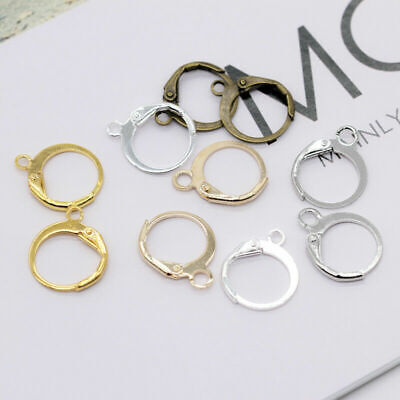 Silver Gold Plated Bronze Hooks Lever Back Earrings DIY Ear Clip Clasp Ear Wires