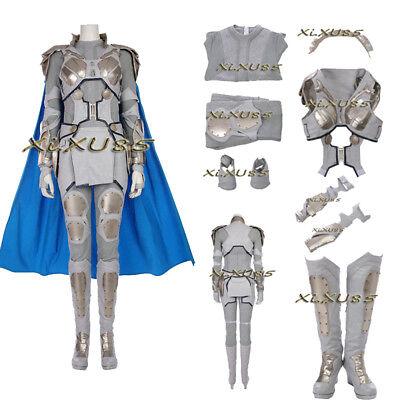 Thor Original Costume (Original Thor Ragnarok Valkyrie Cosplay Costume Women's Outfit Halloween Suit)