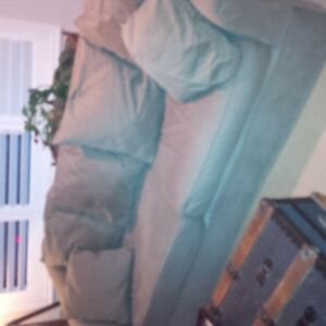 Slip cover, comfy couch $225 obo