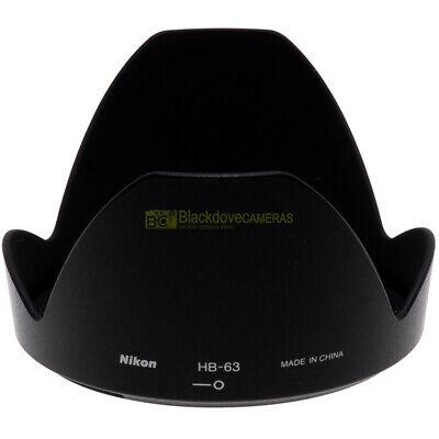 Nikon paraluce HB-63 per AF-S 24/85mm f3,5-4,5 VR ORIGINALE HB63 hood for 24-85