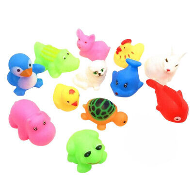 13Pcs/set Baby Children Bathing Water Toy Animal Float Squeaky Sound Bathtub Toy