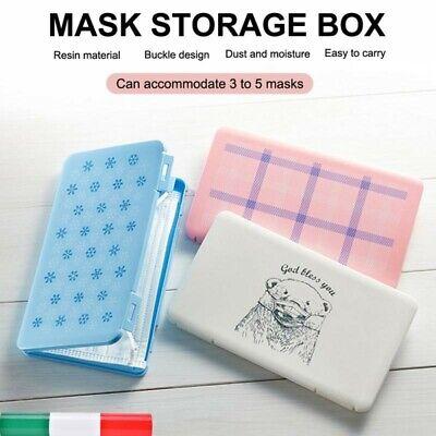 Porta mascherine CUSTODIA CONFEZIONE STORAGE CLIP MASCHERINE NON INCLUSE