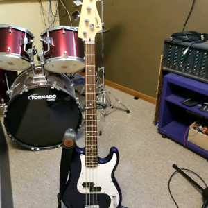 Squier by Fender Precision bass guitar