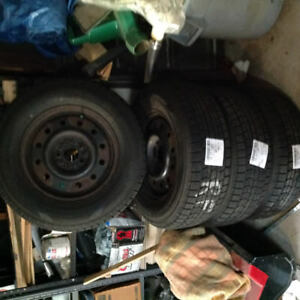 Dunlop snow tires and rims