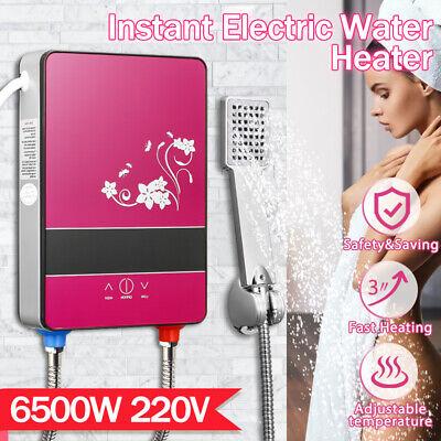 6500W Eléctrico Calentadores de Paso Instantáneo Agua Caliente Cocina Baño Grifo
