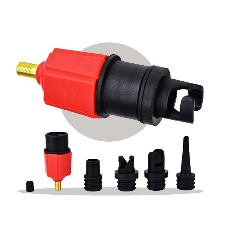 Inflatable Boat Pump Valve Adapter Sup Board Air Compressor