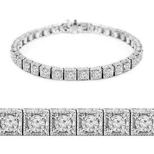 BRACELET AVEC DIAMANTS SUR OR BLANC 14K / 14K WHITE GOLD DIAMOND BRACELET