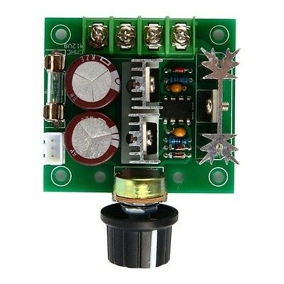 Dc 12-40v Max 10a Pwm Dc Motor Speed Controller With Knob Switch Governor