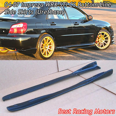 Bottom Line CS Style Side Skirts (Urethane) Fits 04-07 Subaru Impreza STi for sale  USA