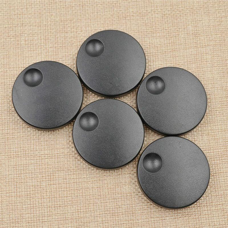 5 Pcs Plastic Knobs Black Round Coding Shafts Axle Shaft Rotary Encoder Caps US