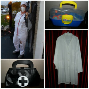Plus Size halloween Costumes Doctors Scrubs & Lab Coat