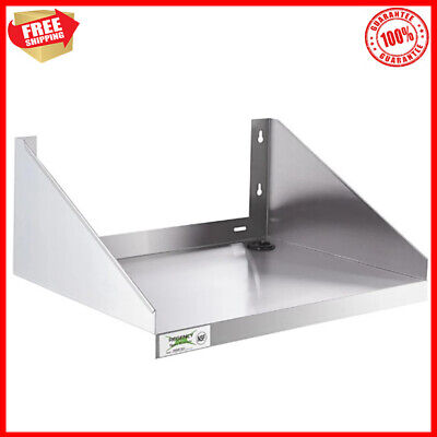 Stainless Steel Commercial Restaurant Wall Mount Microwave Shelf 24 X 18 New