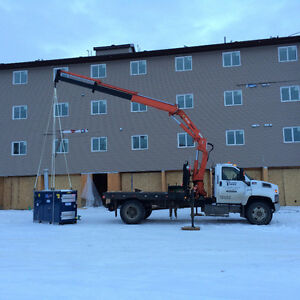 PICKER TRUCK FOR HIRE !!! HOIST SHEDS, HOT TUBS, BOULDERS ECT. Strathcona County Edmonton Area image 7