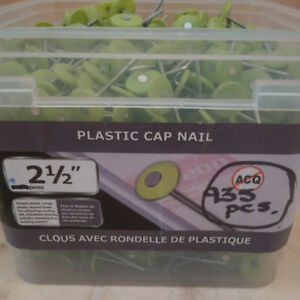 "Plastic Cap Nails 2 1/2 ""  length - 935 pieces"