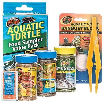 - Zoo Med Aquatic Turtle Food Sampler Value Pack  (Free Shipping in USA)