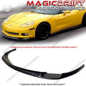 For 06-13 Corvette C6 BASE ONLY ZR1 Style Front Bumper Chin Spoiler Splitter Lip