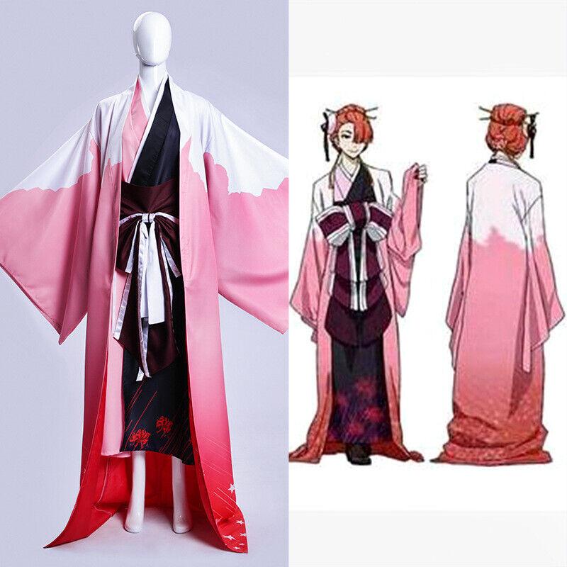 Unisex Anime Stray Dogs Ozaki Akabaci Costume Long Sleeve Uniform Suit Full Set