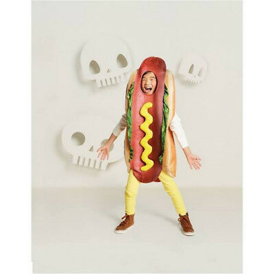 NWT FUNNY CHILD DELUXE HOTDOG HALLOWEEN COSTUME - HOT DOG 2T 3T S M L XL