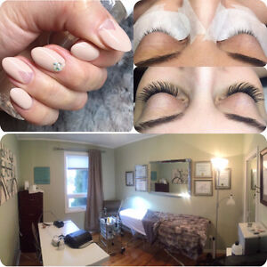 Gel Nails / Classic Lashes, Lash Extensions / Brow Tint & Waxing