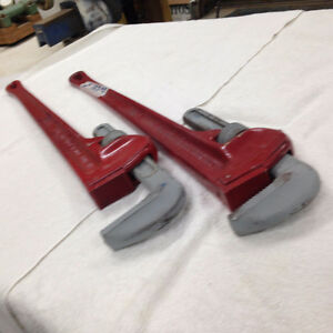 "Heavy Duty 36"" Cast Iron Ridgid Pipe Wrenches"