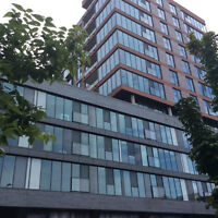Griffintown, condo flambant neuf, piscine, lounge, BBQ,foyer ext