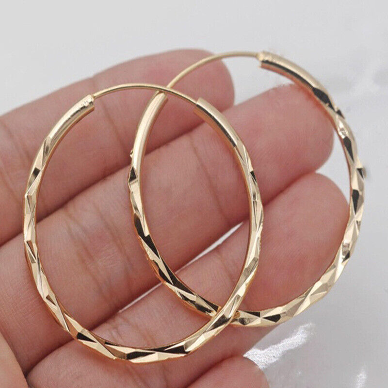 Jewellery - Fashion 18k Gold Plated Hoop Earrings for Women Jewelry Free Shipping A Pair/set