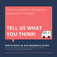 Visited an Emergency Department recently? Tell us what you think