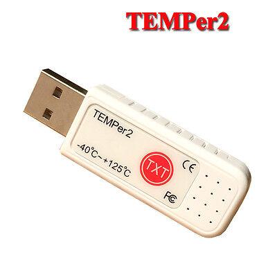 USB Temperature Data logger Datalogger Recorder Internal External Sensor TEMPer2