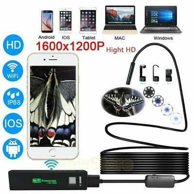 Wireless Endoscope 2.0mp Hd Snake Camera Wifi Borescope Ip67 For Iphone Android